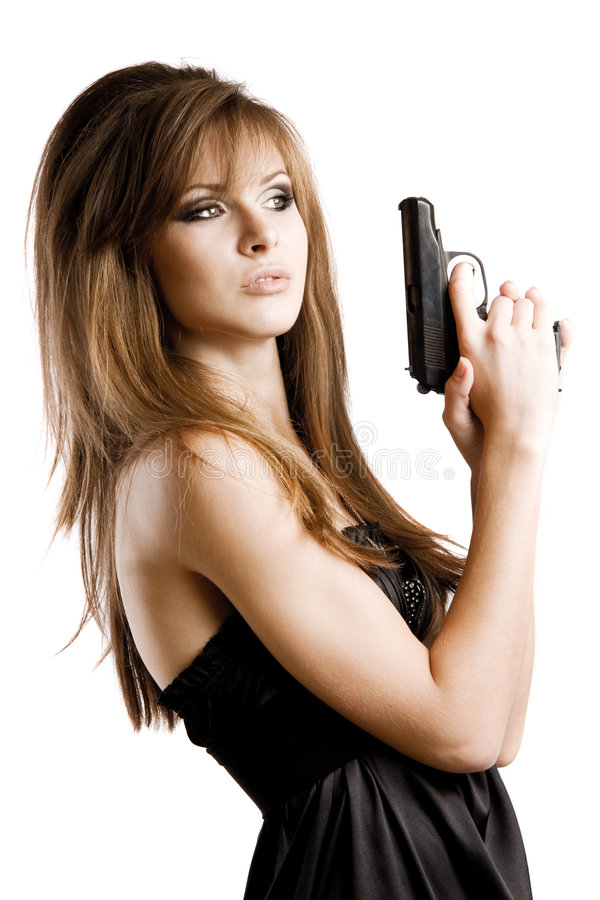 Sexy Girl With A Gun