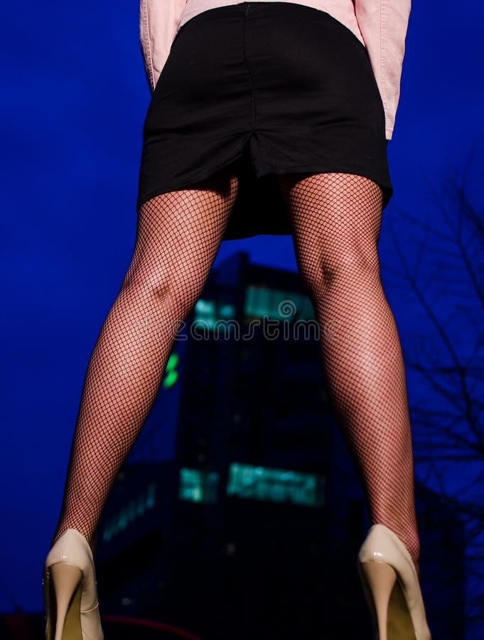 Download Girl In High Heels And Stockings At Night, Stock Image - Image: 24711291