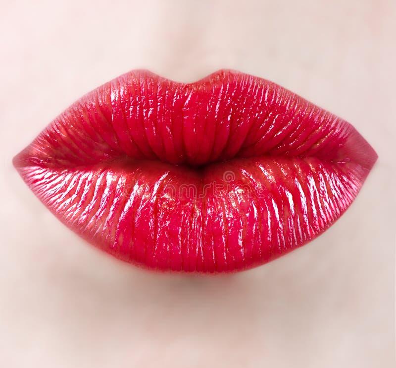 girl lips stock photo
