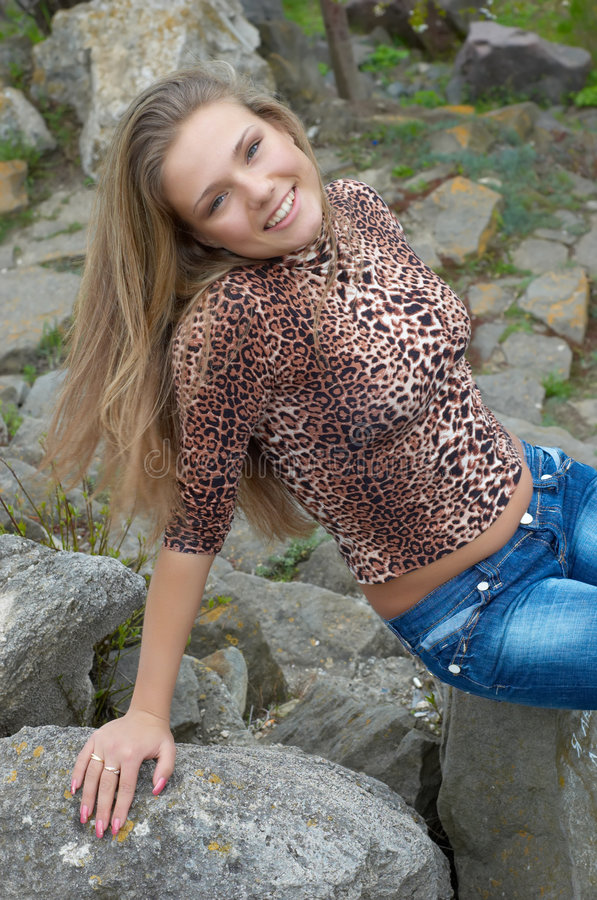 Download Girl with open waist stock image. Image of casual, playful - 2476525