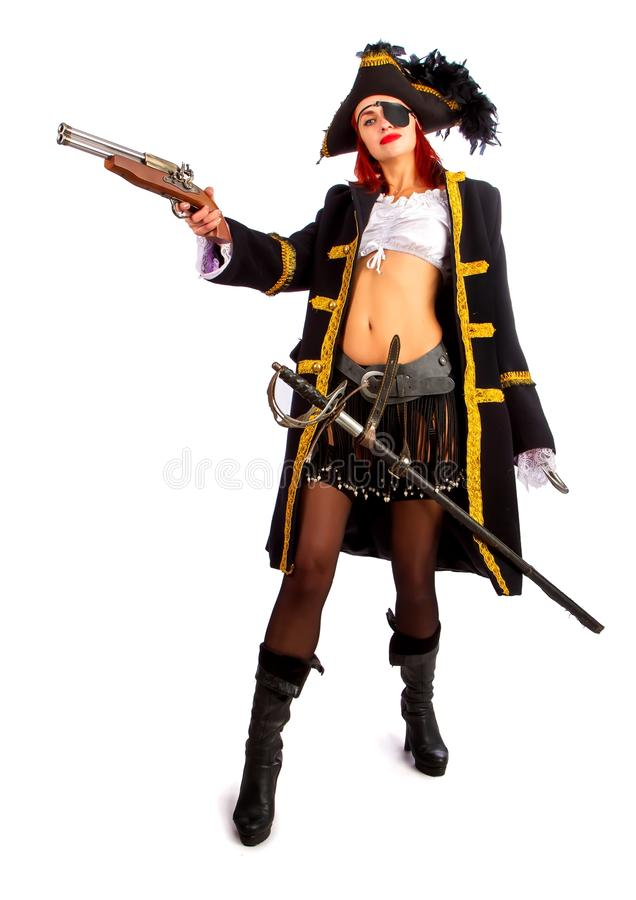 Sexy pirate captain royalty free stock images