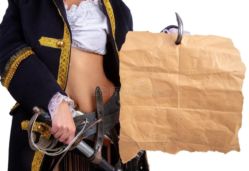 Sexy pirate captain stock images