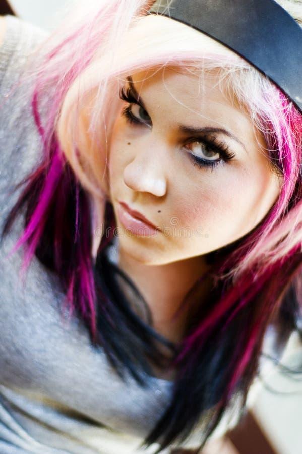 Girl Punk Fashion Model stock photography