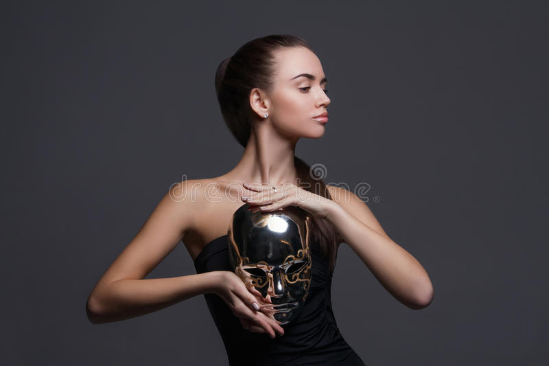 Girl With Silver Mask Stock Photo Image Of Closeup, Beauty - 71087784-3631