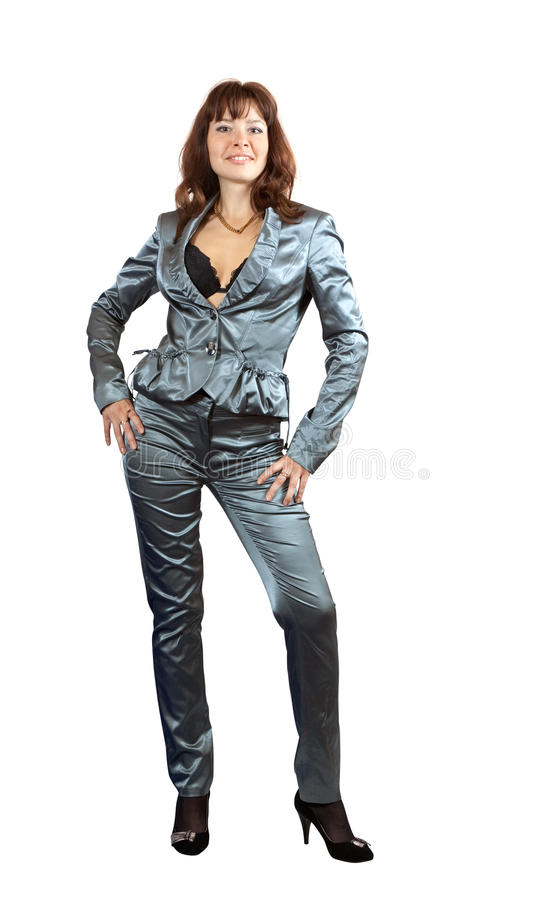Download Girl In Silver Suit Stock Photo - Image: 21438030