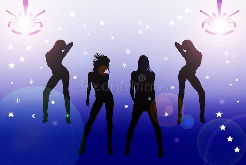 Girls In The Disco vector illustration