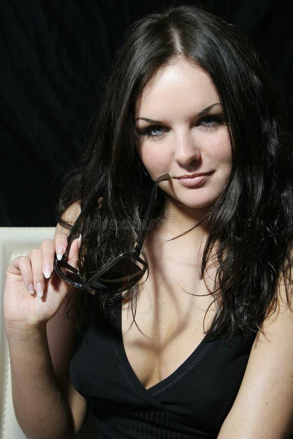 Sexy glimlachend meisje stock foto