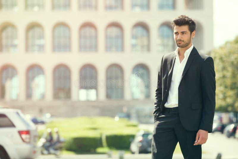 gorgeous stylish man. City style. stock photography