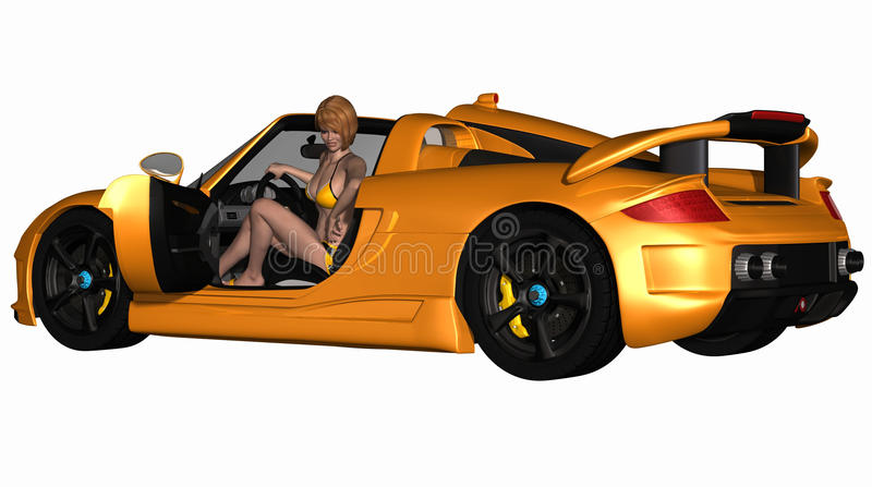 Download Grid Girl and Hot Car stock illustration. Image of performer - 13478554