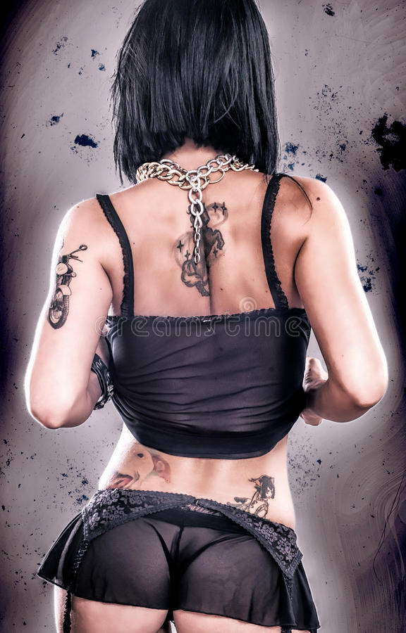 Grunge Tattoo Girl stock photography