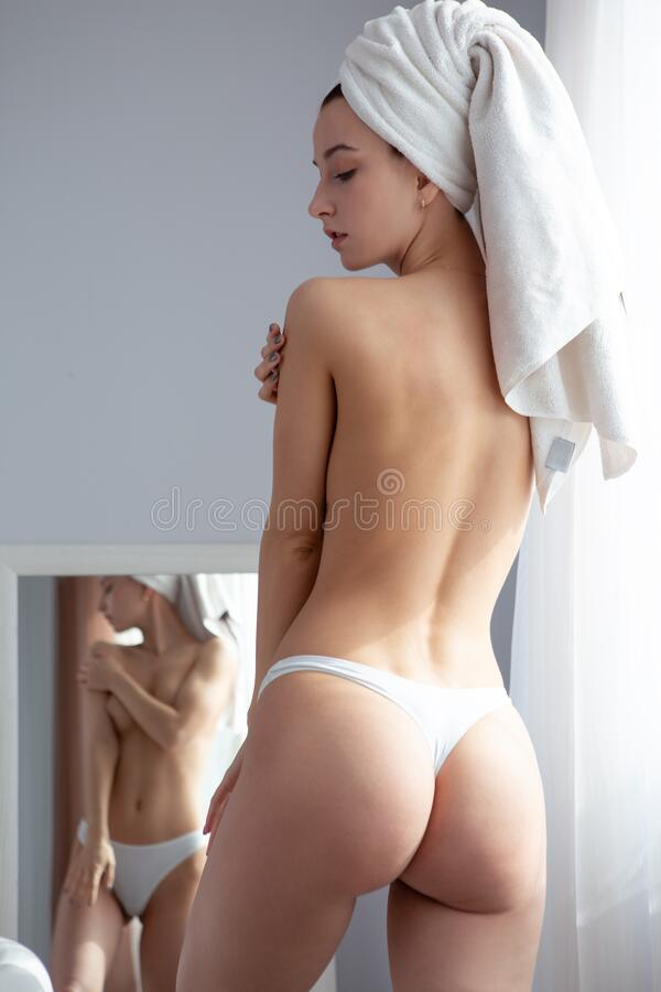 Half Naked Girl Mirror