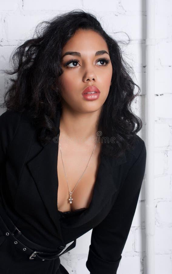 Sexy heet brunette stock fotografie