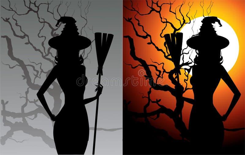 Sexy heks stock illustratie
