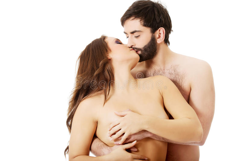 from Conrad naked couple kissing to breast