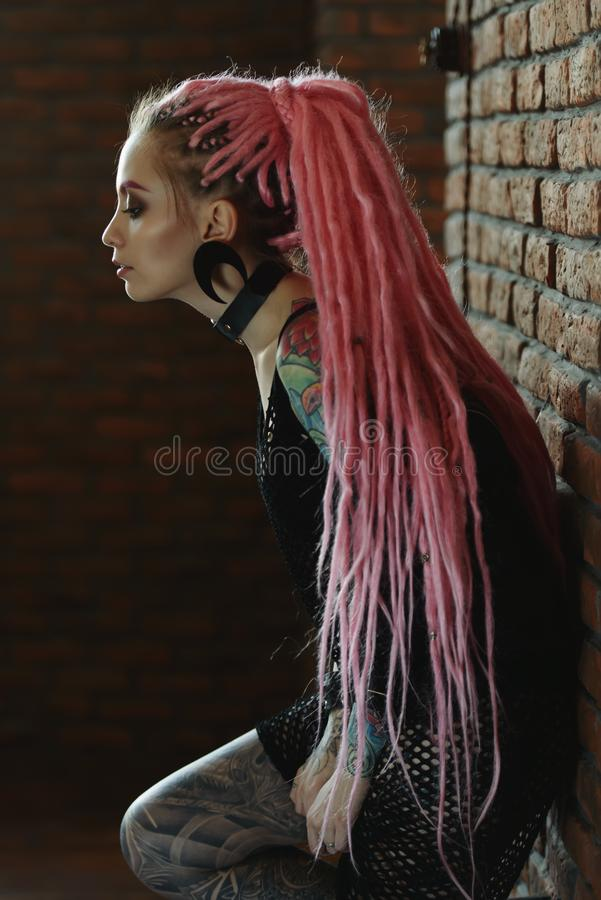 Trendy modern hairstyle royalty free stock photography