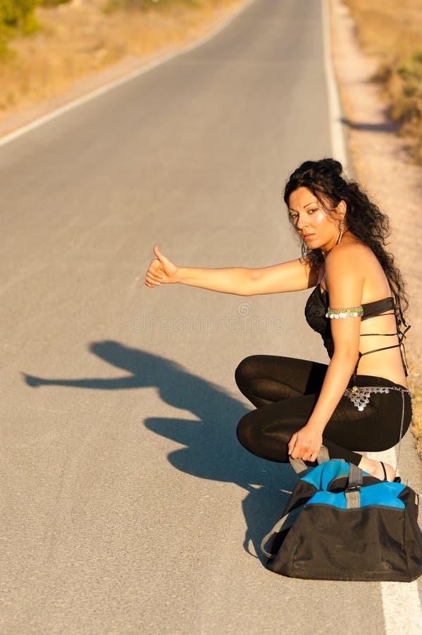 hitchhiker royalty free stock photo