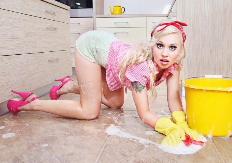 Sexy huisvrouw