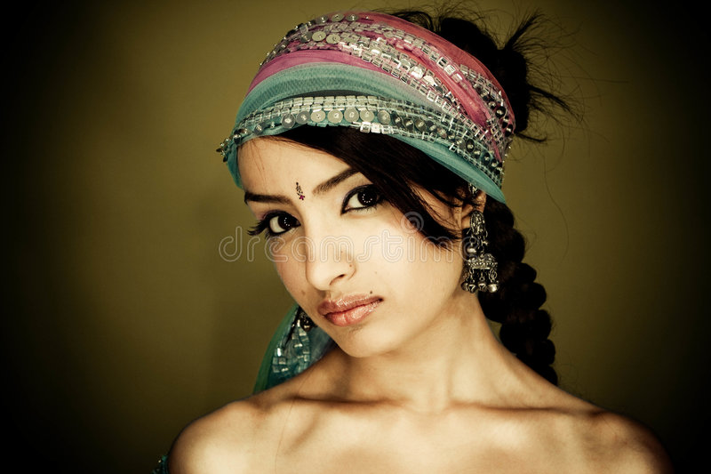Download Indian girl stock photo. Image of fabric, beauty, fashion - 9063250