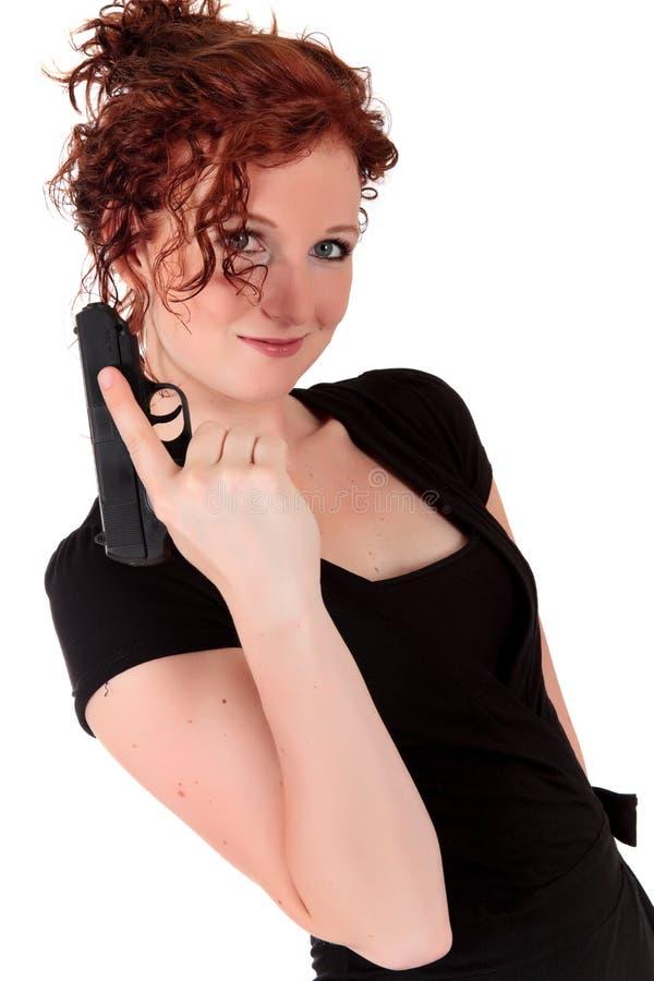 Sexy jong vrouwenkanon stock fotografie