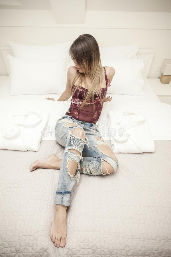 Sexy jonge vrouwen stock afbeeldingen