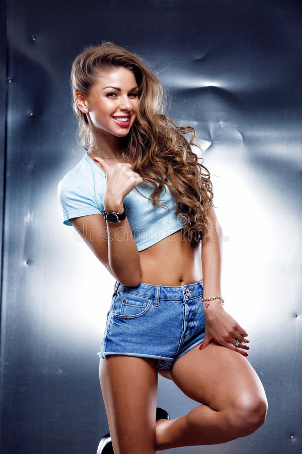 Sexy junge Frau lizenzfreie stockfotos