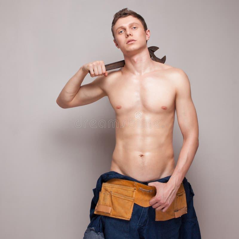Sexy Körperarbeitskraft lizenzfreies stockfoto