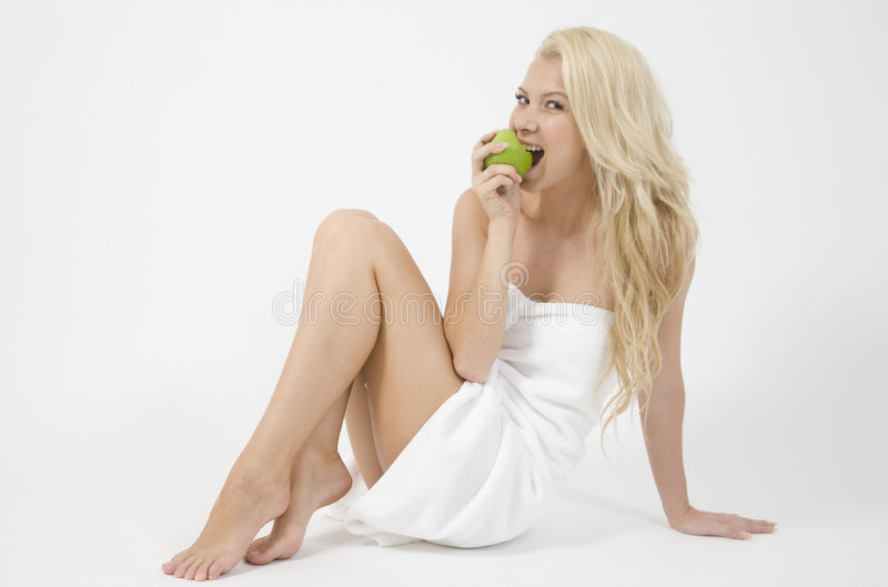 Download Lady With An Apple Royalty Free Stock Photos - Image: 6275228