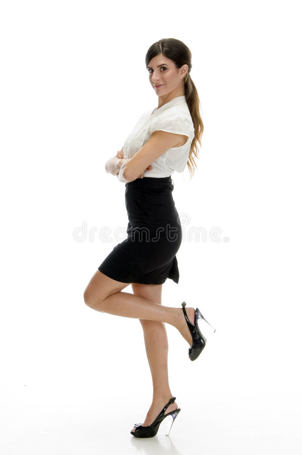 Download Lady standing on leg stock image. Image of beautiful, copy - 6541239