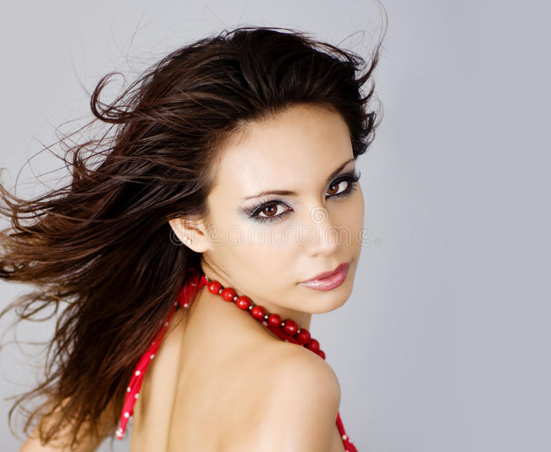 Sexy latino jonge vrouw stock foto's