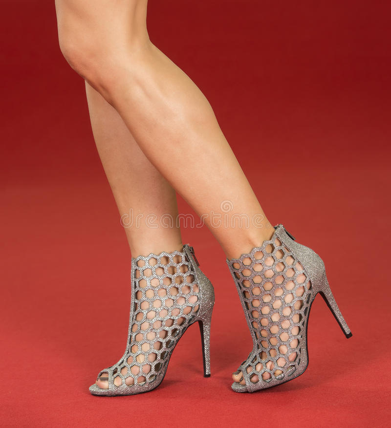 Download Legs In Fancy High Heels On The Red Carpet Stock Photo - Image of  award