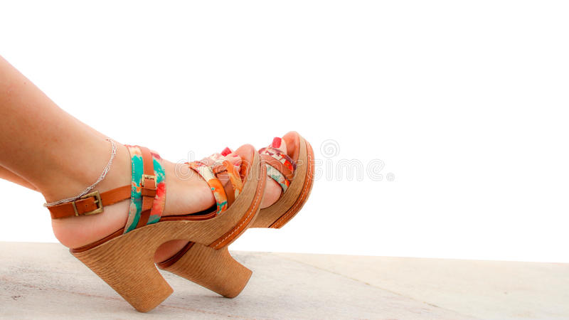 legs in high heel shoes royalty free stock photo