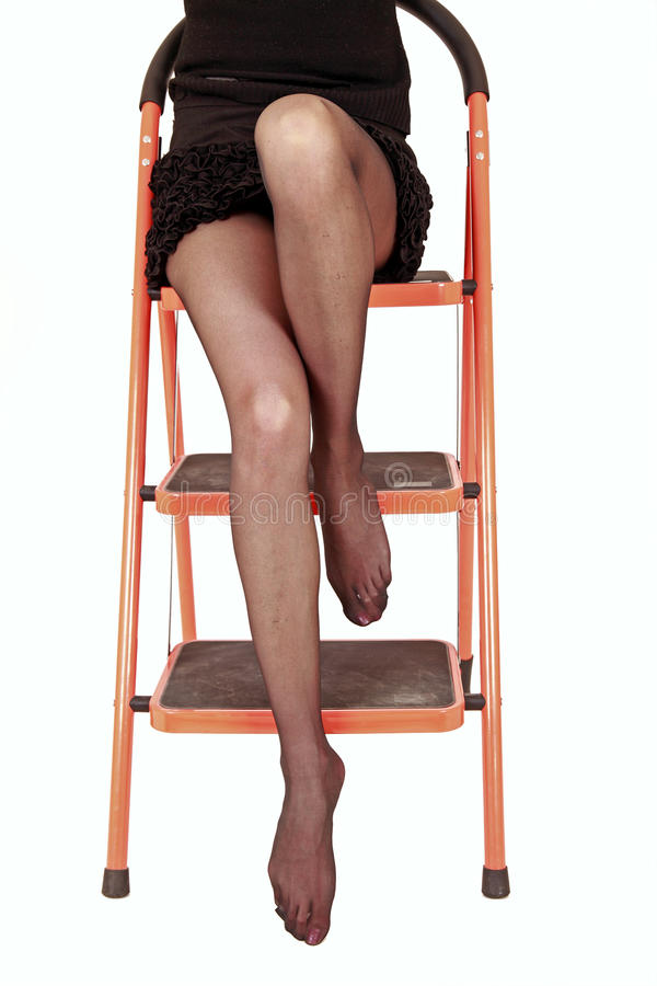 Download Legs on ladder stock photo. Image of erotic, natural - 13040916