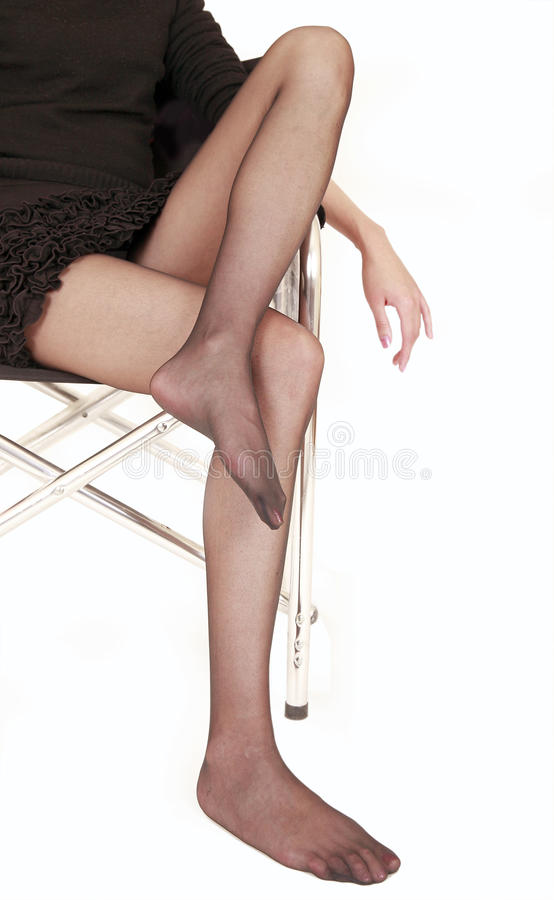 legs in pantyhose royalty free stock photography