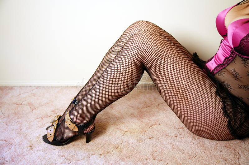 Sexy legs wearing stockings