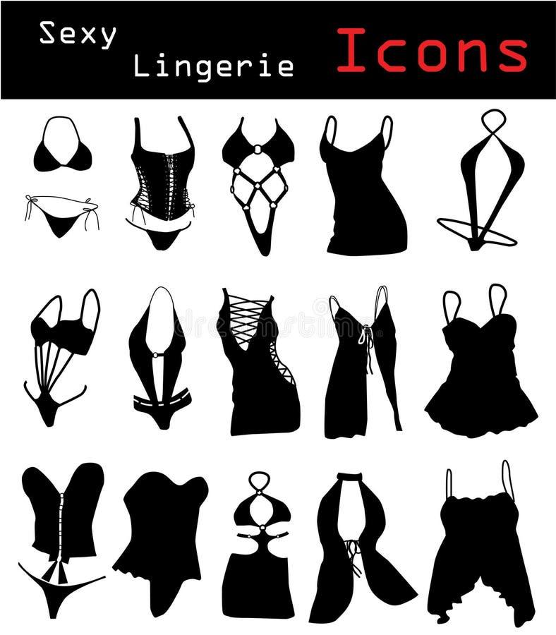 Lingerie Icons Stock Photo