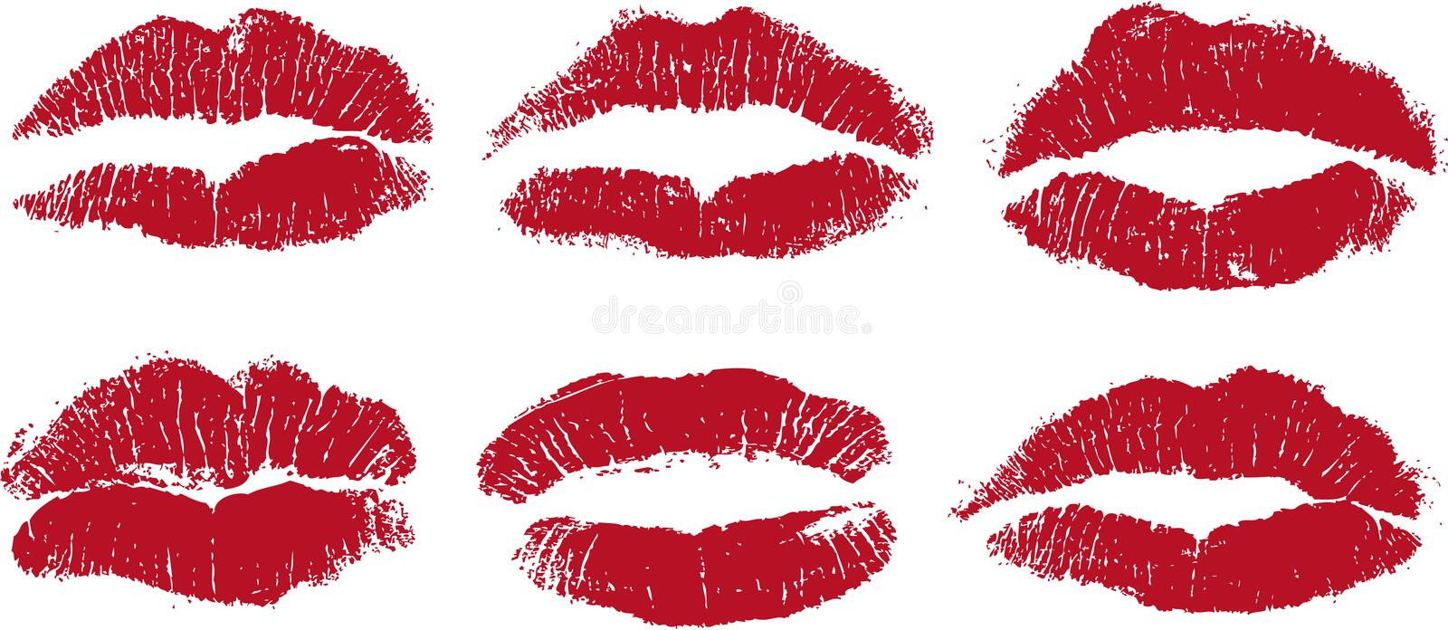 lip kisses in red royalty free illustration