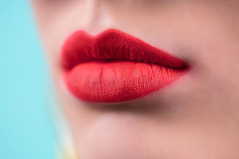 Lips. Beauty red lips make up detail. Close up. Sensual mouth. lipstick, lipgloss. Lips. Beauty red lips make up detail. Close up. Sensual mouth. lipstick or royalty free stock images