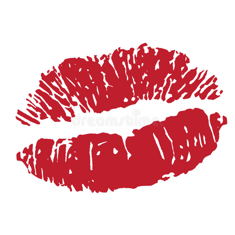 lipstick kiss print icon stock illustration