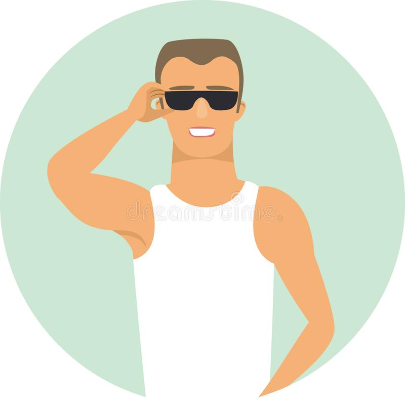 macho character vector illustration