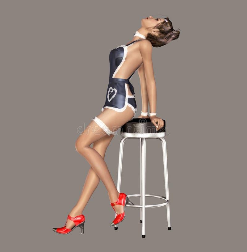Download Maid stock illustration. Illustration of pose, teenage - 8546471