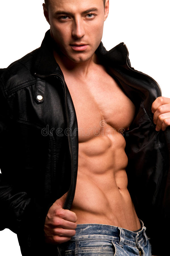 Download Man. stock photo. Image of muscle, muscular, jeans, abdomen - 14051778
