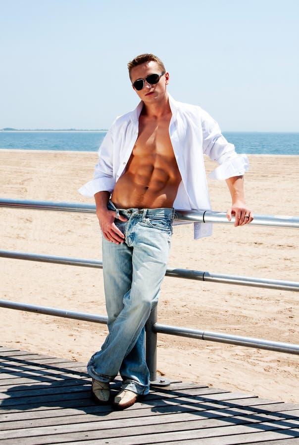 Download Man At Beach Royalty Free Stock Photography - Image: 9740507