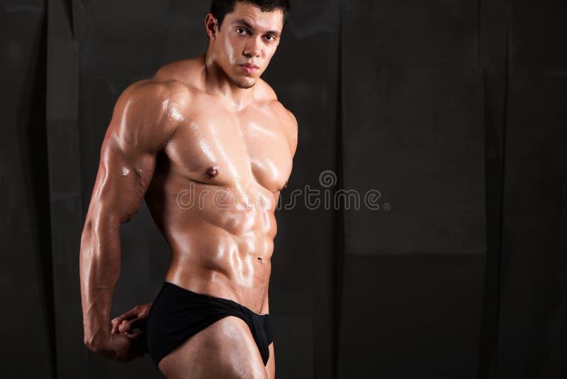 man builder torso. royalty free stock photography