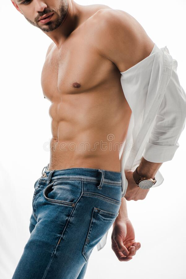 Free Sexy Man In White Shirt And Stock Photography - 177527662