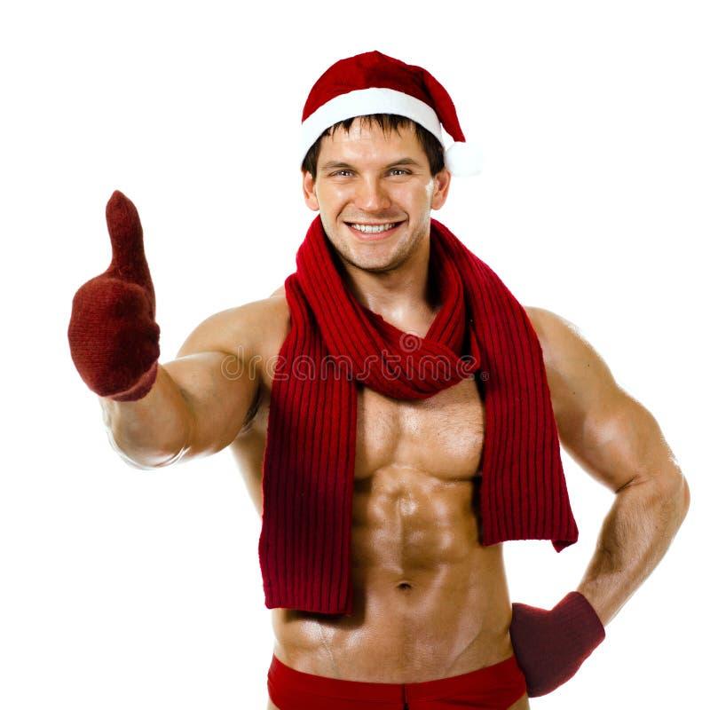 Download Man Santa Claus stock image. Image of celebrate, bodybuilder - 26557907