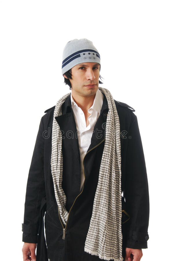man in winter clothes royalty free stock images