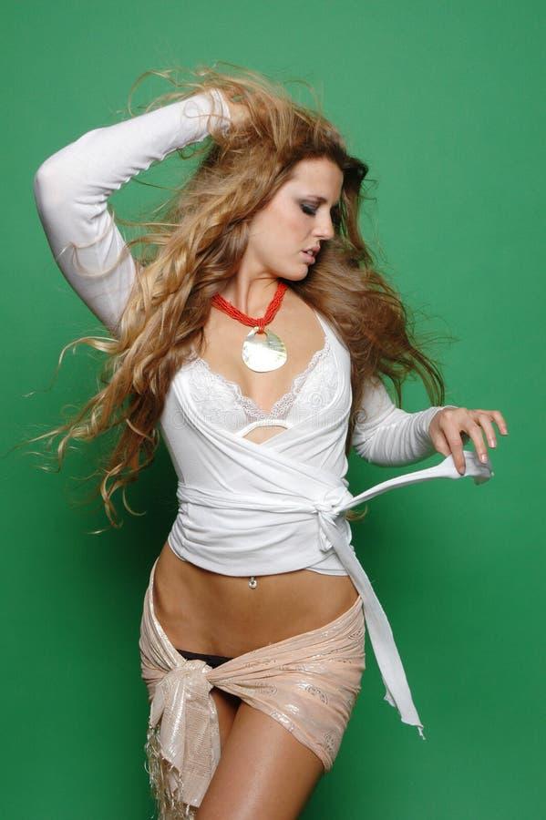 Sexy maniermeisje royalty-vrije stock afbeelding