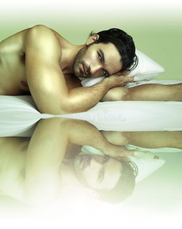 Sexy mannelijk model stock fotografie