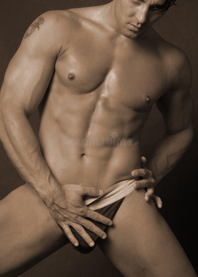 Sexy mannetje in ondergoed 3 royalty-vrije stock fotografie