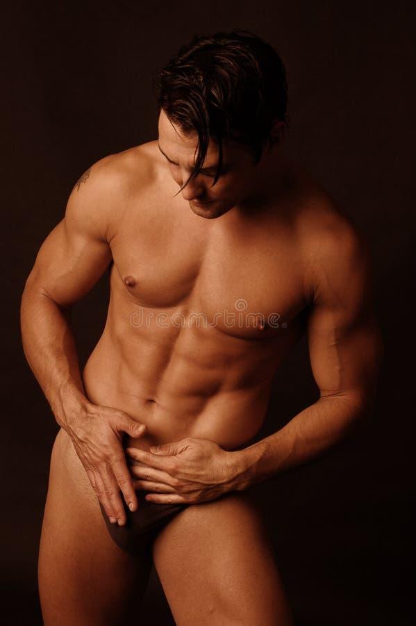 Sexy mannetje in ondergoed 4 royalty-vrije stock fotografie